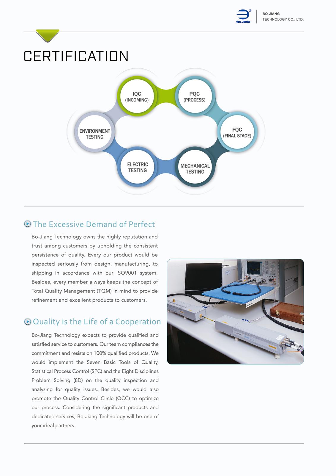帛江科技certification